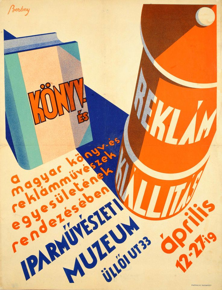 Book and advertising exhibition at the Museum of Applied Arts (Berény Róbert, 1930.)