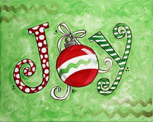 Social Artworking Canvas Painting Design - Christmas JOY