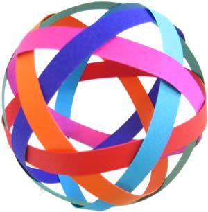 easy to make christmas decorations woven ball step 5