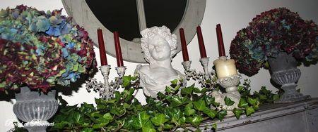 Roses et pivoine Pour faire sécher hortensias, les couper, les enfoncer dans bloc de mousse mouillé bien serrés car en séchant, tendance à perdre volume. Les poser à leur place. Ne plus toucher.