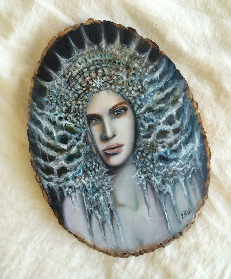 """The Witch of Winter"" - 12"" oil on wood by Artist Erica Wexler"
