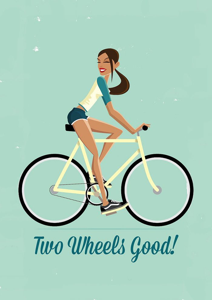 Cycle chic drawing. Bicyles Love Girls. http://bicycleslovegirls.tumblr.com