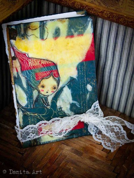 Beeswax and Upcycled Books turned into Journals by Danita art