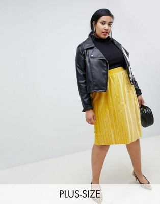 f442809803d Shop ASOS Curve to find fashionable plus sized clothing for curvy women.  Junarose velvet flippy skirt