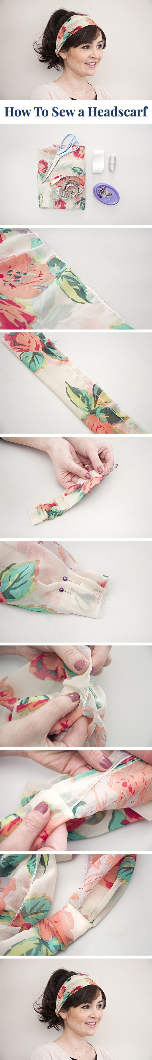 How to sew a headscarf | tutorial by Lisa Comfort