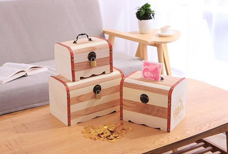 ==> [Free Shipping] Buy Best 1 X Wood Money Box Cute Piggy Bank Coin Alcancia Kids Online with LOWEST Price | 2042615382