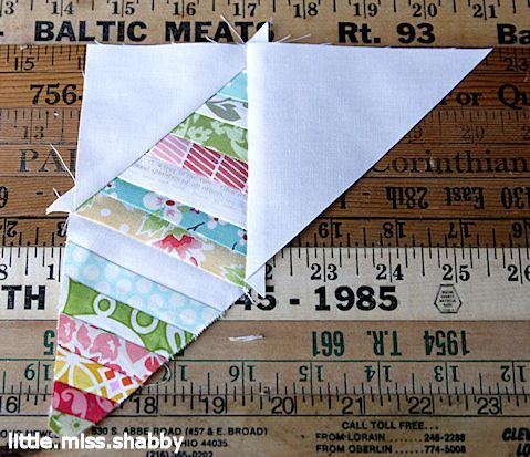 "1"" strip paper piecing.  Great use of those misc. scraps."