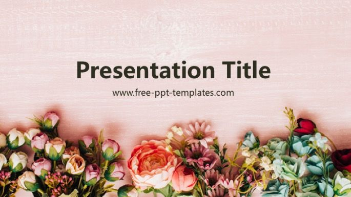 Flowers Powerpoint Template Powerpoint Templates Powerpoint Background Design Powerpoint