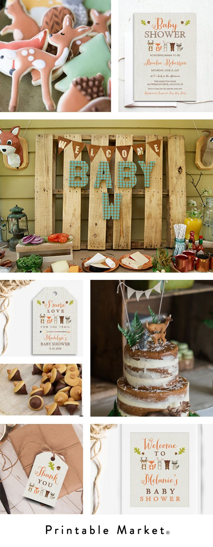 Woodland Fox Baby Shower Inspiration - Printable Market
