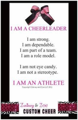 I AM A CHEERLEADER poster! zaineyandzoecheer.com cheerleading and cheer