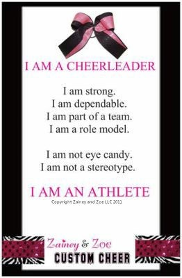 I AM A CHEERLEADER poster! zaineyandzoecheer.com cheerleading and cheer