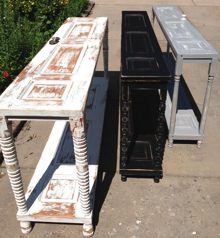 Upcycled Console Tables Made From Salvaged Doors