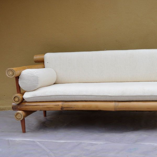 Furniture Bamboo Sofa 2-Arms