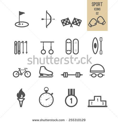 Set of sport icon. Vector illustration.