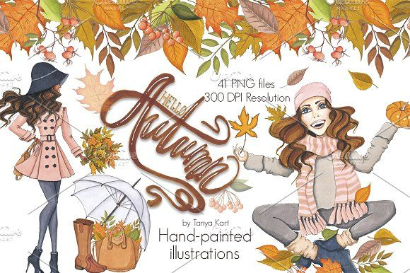Hello Autumn Collection by Tanya Kart on @creativemarket