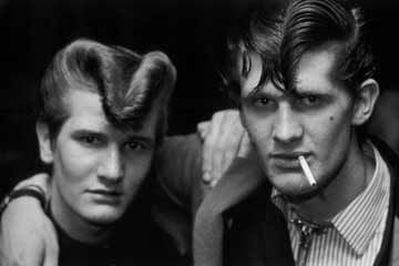 A couple of old Teddy Boys. (A sort of English version of Greaser).
