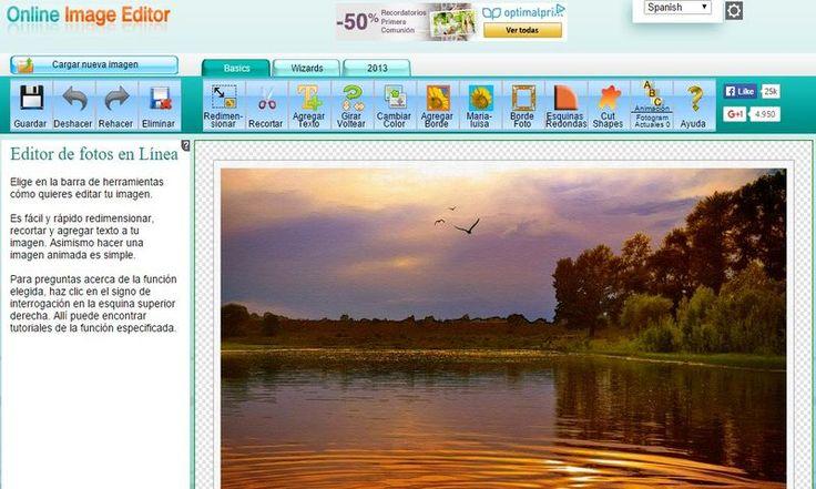 Online Image Editor es un excelente editor de imágenes en línea que dispone de todo tipo de herramientas para editar, retocar y mejorar nuestras fotos.