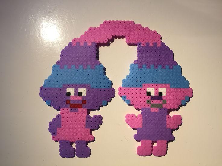 Satin & Chenille, Trolls, hama beads, tvillingar, twins, kids, hamapärlor