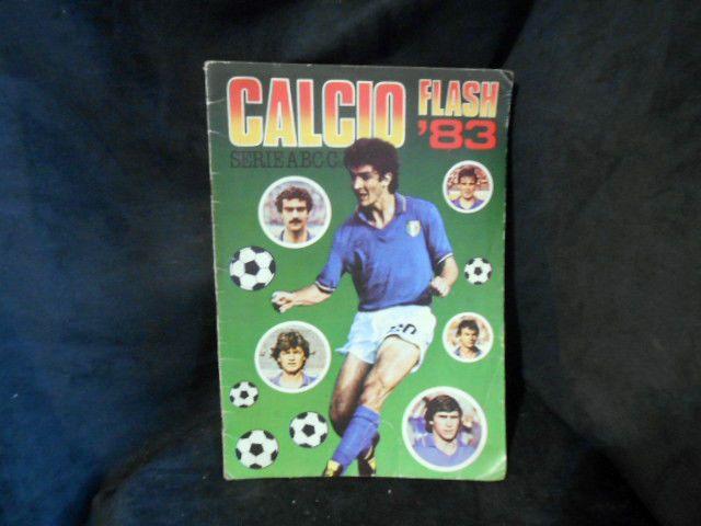 CALCIO FLASH '83 SEGNI DI USURA PARZIALMENTE COMPILATO PIU' DI 100 FIGURINE