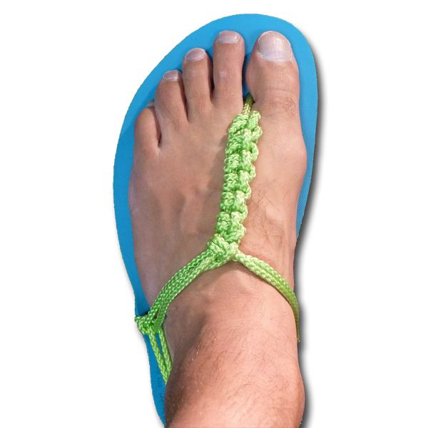 Fancy tying for huaraches sandals