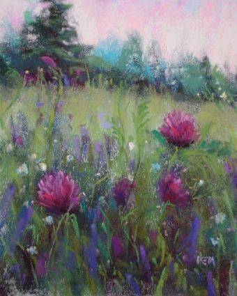 A Field of Purple Flowers -- Karen Margulis
