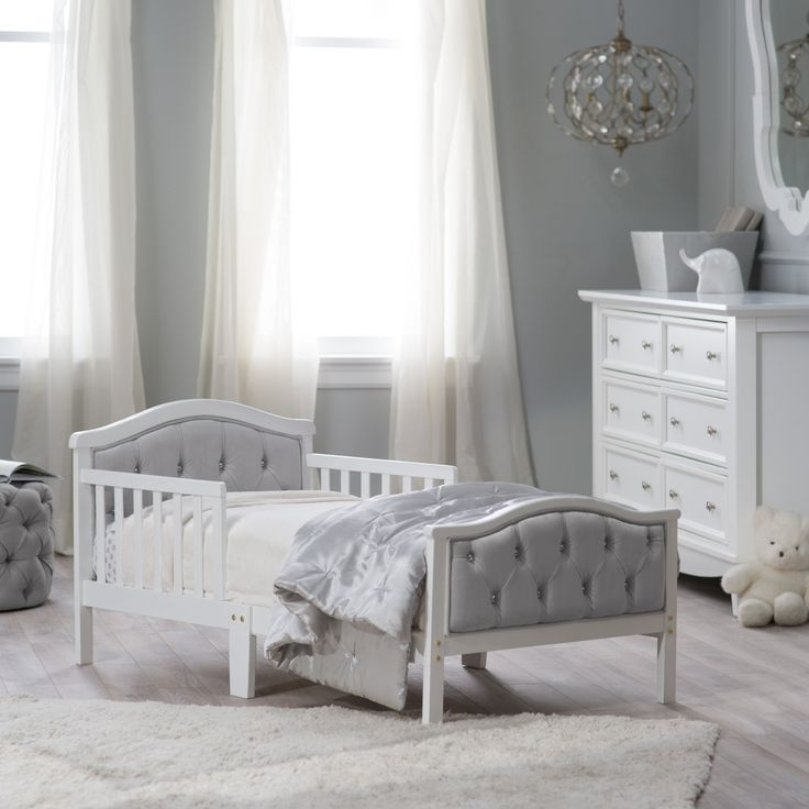 Orbelle Upholstered Toddler Bed - Gray/French White - 417FW-G