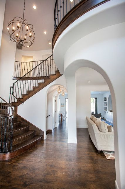 <p>Design ideas for a mediterranean kitchen in Los <b>Angeles</b>.</p><p>Design ideas for a mediterranean l-shaped kitchen in Los <b>Angeles</b> with shaker cabinets, white cabinets, marble countertops, white backsplash, subway tile backsplash, stainless steel appliances, dark hardwood floors and an island.</p><p>Mediterranean kitchen in Los <b>Angeles</b>.</p><p>Photo of a mediterranean kitchen in Los <b>Angeles</b>.</p><p>Mediterranean white two-story stucco exterior in Los <b>Angeles</b…