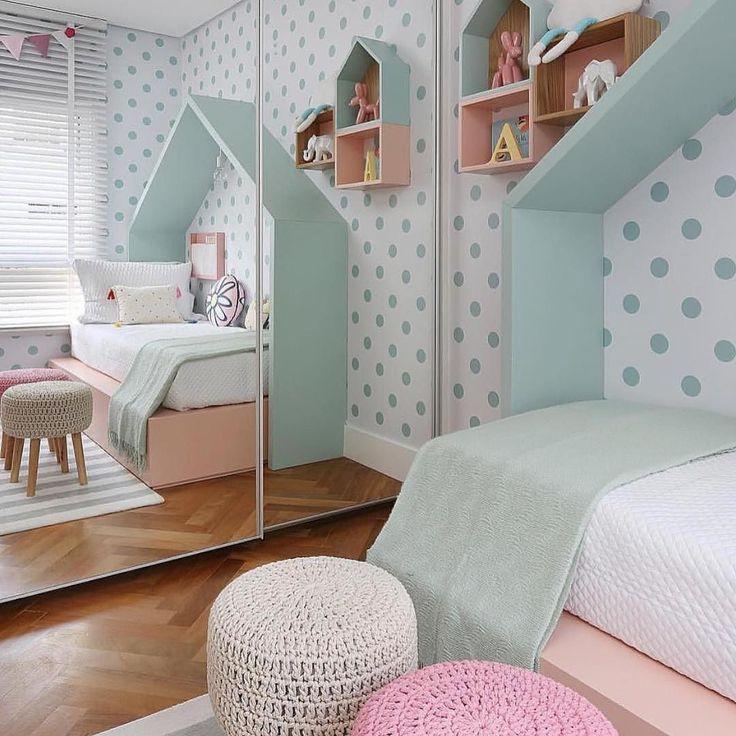 Decoração Quarto Criança   E O Quanto A Parede Desse Quartinho é Fofa?! { · Interior  IdeasKids DecorKids FurnitureRoom ... Part 95