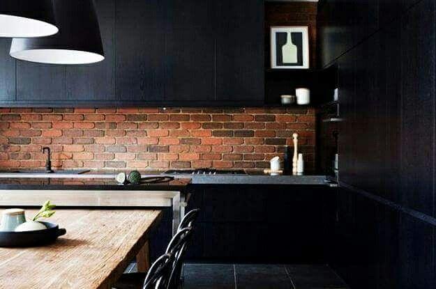 Everything taste yummy when you're kitchen look like this. #texture #BRICKWALLS #arhitecture #arhitecturelovers @wallpoint_romania  www.wallpoint.ro