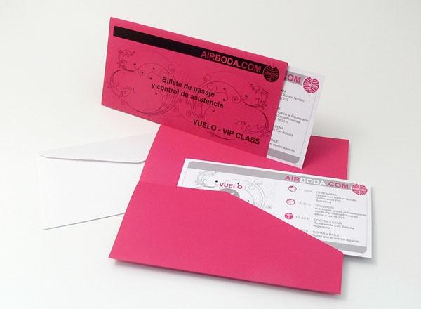 Invito Nozze - Biglietto Aereo I54V2-B