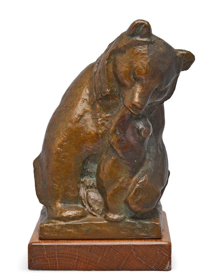 "** Jussi Mäntynen (Finnish 1886-1978), ""Affection"" Sculpture, Patinated Bronze."