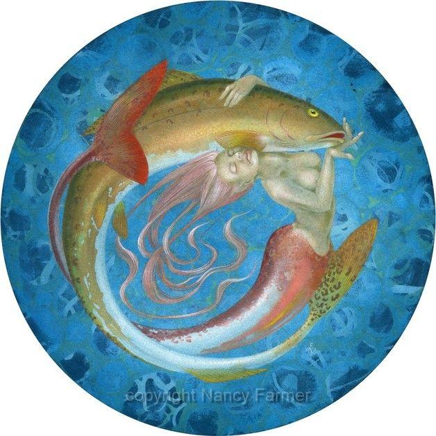 'Fishwife'  - mermaid - signed print