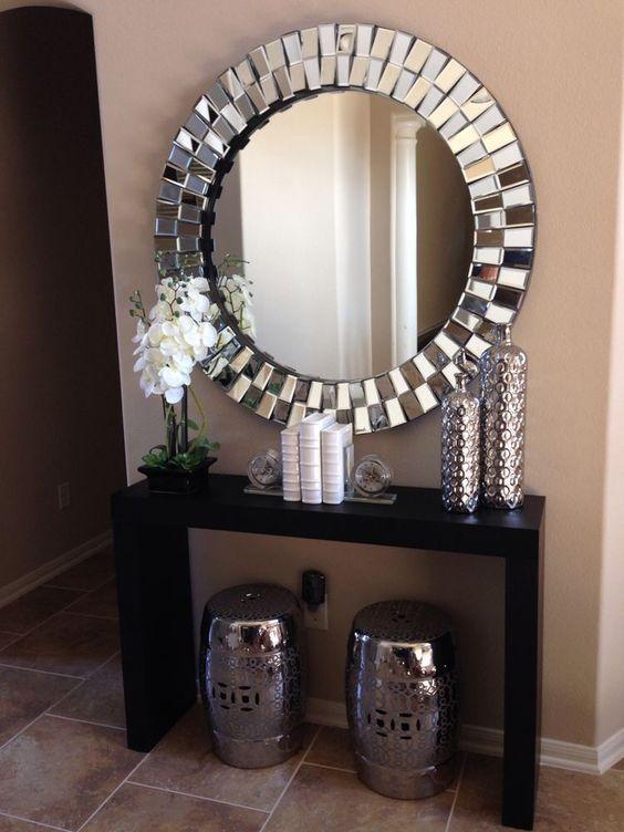depto consolas aparadores entradas juego interiores mesas hogar espejos de oro