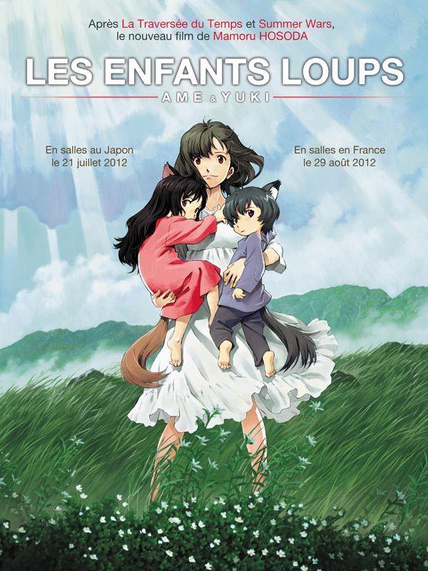 Les Enfants Loups, Ame & Yuki est un film de Mamoru Hosoda avec Kumiko Aso, Megumi Hayashibara. Synopsis : Hana et ses deux enfants, Ame et Yuki, vivent discrètement dans un coin tranquille de la ville. Leur vie est simple et joyeuse, mais ils cachen