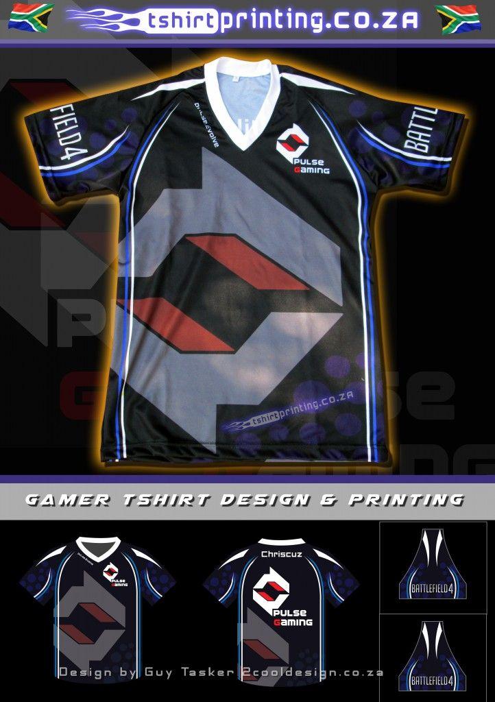 Pulse gaming shirt designed and printed by tshirtprinting.co.za