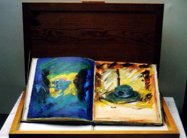 "The Book "" Snow"" on show in the exhibition Bridges and Crossroads... Artist Coilin Murray ."