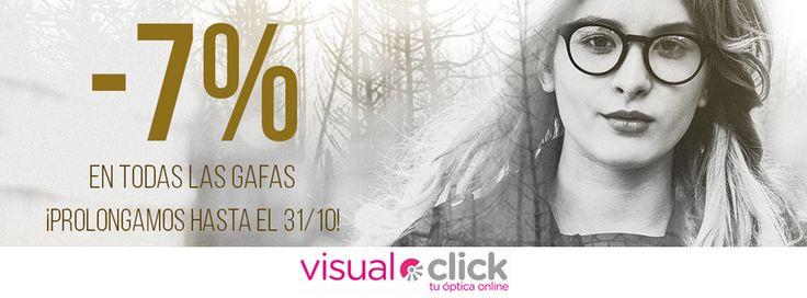 📣¡ATENCIÓN! Ahora en Visual-Click, tu óptica online, -7% de #descuento en #gafasdesol y #gafasgraduadas ¡Prolongamos hasta el 31/10! 🤗 ¡Aprovecha nuestra promo FALL y consigue tus gafas preferidas con descuento! 👉 https://www.visual-click.com/ #RayBan #Oakley #Persol #CarolinaHerrera #Tous y más...