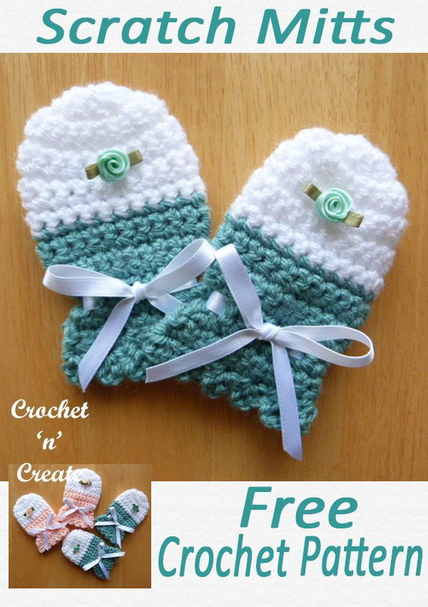 Baby Scratch Mitts | Projects to try | Crochet baby mittens
