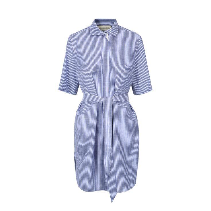 Blå og hvit stripete By Malene Birger Olali kjole