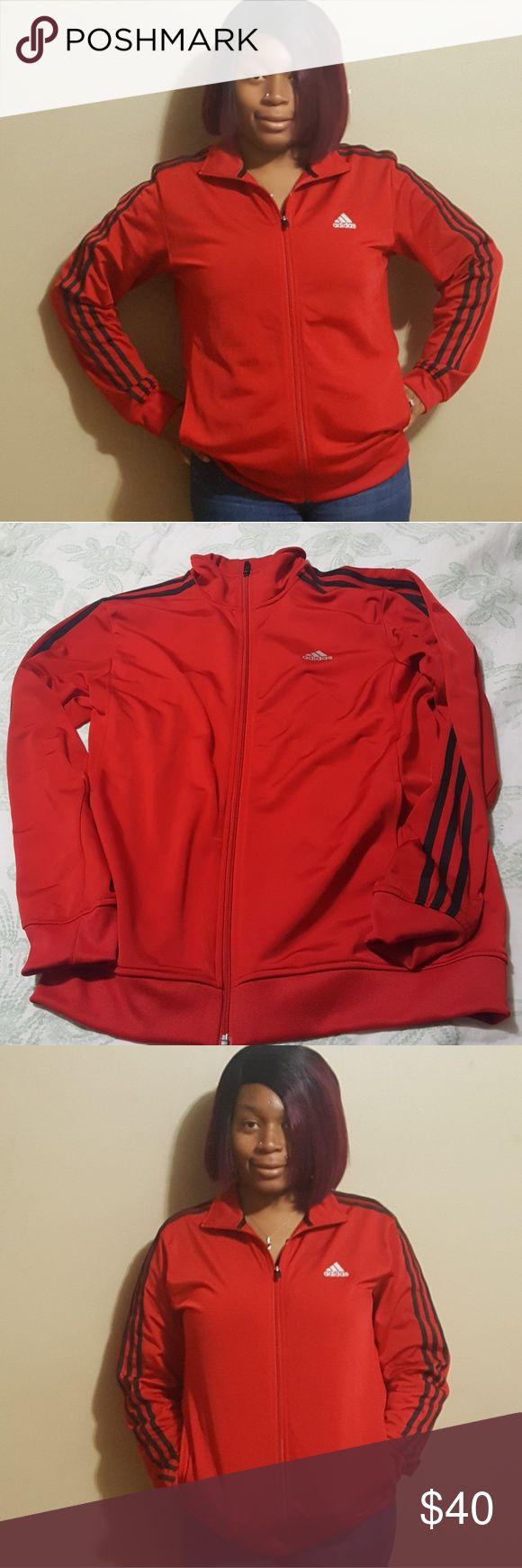 Adidas (mens ) jacket Red Adidas men's medium jacket . Worn twice ,very good condition . adidas Jackets & Coats Lightweight & Shirt Jackets