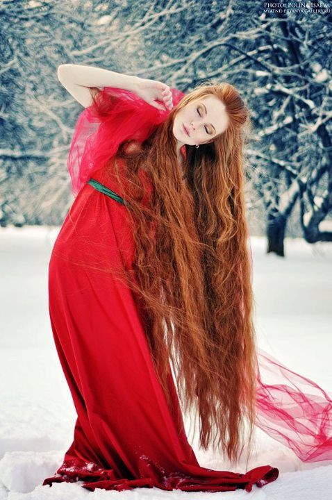 This is absolutely gorgeous! Beautiful! I love red hair and I love extremely long hair!