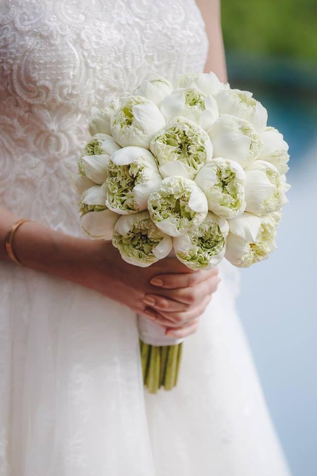 Thai Lotus Wedding Bouquet Destination Wedding Bouquet Wedding
