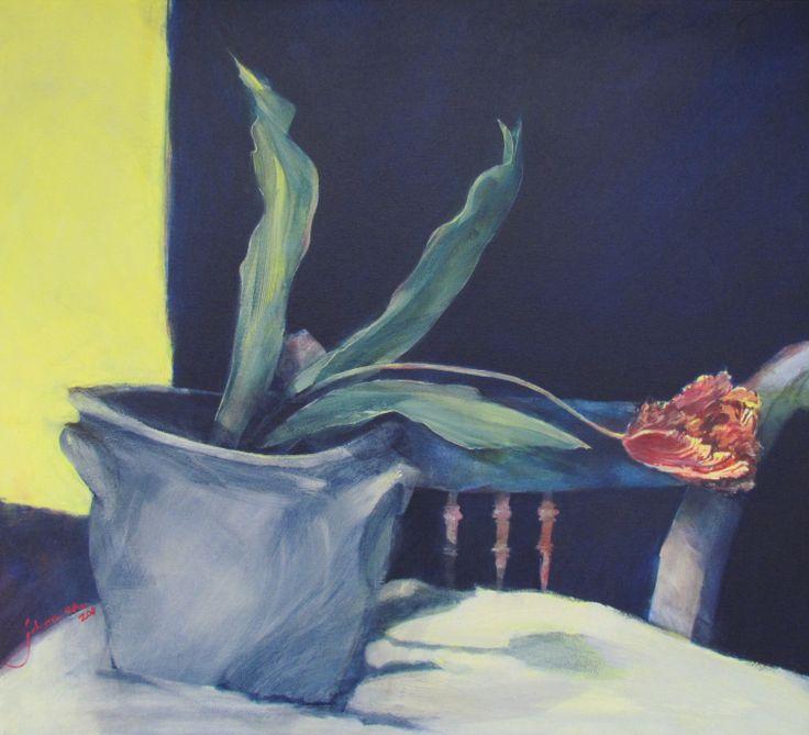 tulip. charroux france. painting by johann slee. www.slee.co.za