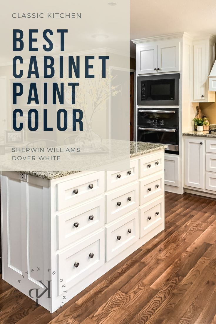 Kitchen Cabinets In Sherwin Williams Dover White Painted By Kayla Payne Painted Kitchen Cabinets Colors Paint Cabinets White Kitchen Remodel Plans