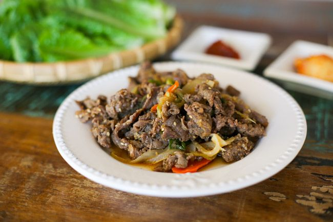 Bulgogi (Korean BBQ Beef) served | MyKoreanKitchen.com