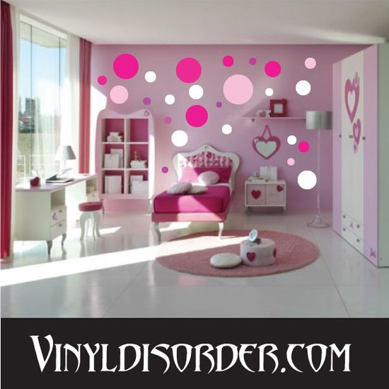 216 Dots Circles Wall Decal Kit - Vinyl Decal - Car Decal - Many Sizes Available.