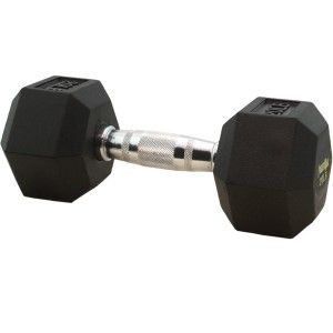 PowerMax® Rubber Coated Dumbbell Set   Includes two each of 5, 10, 15, 20, 25, 30, 35, 40, 45, and 50 lb. dumbbells