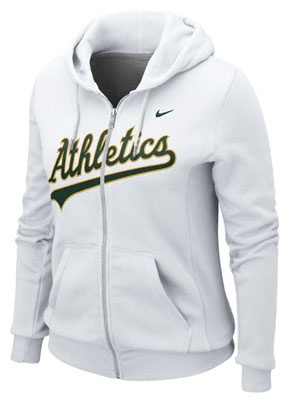 Chicago Cubs Ladies White Classic Full Zip Hoodie by Nike