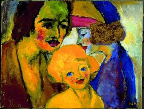 Emil Nolde, Family Portrait - 1928 on ArtStack #emil-nolde #art
