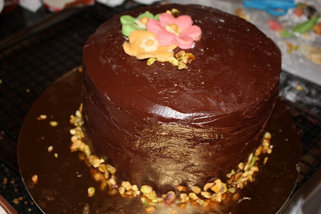 Chocolate Pomegranate Petit Fours Recipe — Dishmaps